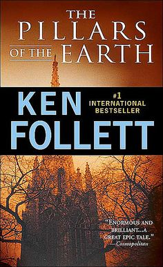 The Pillars of the Earth by Ken Follett. Historical fiction that is also a murder mystery, architectural education on building cathedrals, love story. Thank you Ken Follett for the gift of many pleasant hours spent reading your book. I Love Books, Great Books, Books To Read, My Books, Love Reading, Reading Lists, Book Lists, Reading Books, Ken Follett