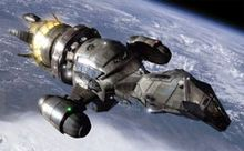 The spacecraft Serenity was digitally rendered by special effects house Zoic Studios. The shape was inspired by the shape of the firefly insect, and its tail section lights up in imitation of it.