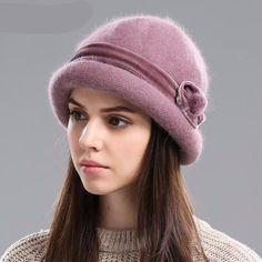 609d58c7932 Winter Fedora Rabbit Faux Fur Hat for Women