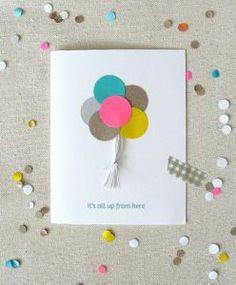 carte anniversaire ballons colorés                                                                                                                                                                                 Plus