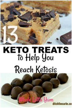 19 ketogenic dessert recipes to help you reach ketosis! These recipes are quick and easy and include keto cookies, keto fat bombs, bars and brownies. Whether you're looking for low carb dessert recipes or keto cookie recipes, you'll find a recipe to satisfy your sweet tooth. #ketogenicdiet #ketodesserts #cleaneating #healthyliving #healthydesserts #lowcarb