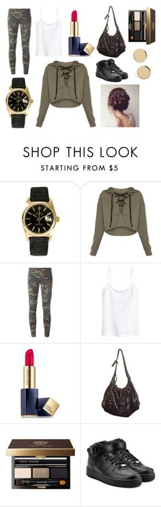 """""""OOTD"""" by hailey-smith-13 ❤ liked on Polyvore featuring Rolex, Faith Connexion, H&M, Estée Lauder, HUGO, Bobbi Brown Cosmetics, NIKE and Magdalena Frackowiak"""