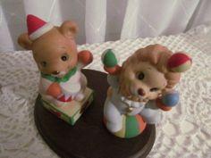 Homco Home Interiors Circus Bears Clowns Porcelain 1449 Free Ship