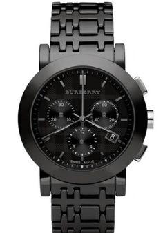 Beautiful black burberry watch