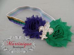 A personal favorite from my Etsy shop https://www.etsy.com/listing/220367507/headband-mardi-gras-purple-and-green