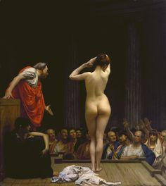 The roman slave market - Jean Leon Gerome