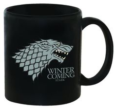 Show the world that you're ready for the cold, or just let everyone know where your loyalties lie! The Stark crest and family words – ''Winter is Coming'' – adorn this officially licensed coffee mug based on the HBO series Game of Thrones.  - http://kitchen-dining.bestselleroutlet.net/product-review-for-dark-horse-deluxe-game-of-thrones-11-oz-coffee-mug-stark/