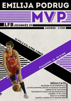 Emilija Podrug - MVP Etrangère - LFB Journée #19