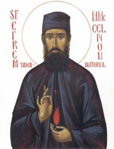 Sfantul Efrem cel Nou Catholic Saints, Roman Catholic, Byzantine Icons, Art Icon, Orthodox Icons, Christ, Fictional Characters, Ikon, Lord