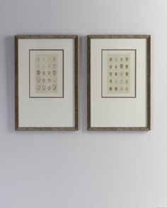 Two Egg Studies   for the wall... love the all of the pastels and subtle variations in size, shape and spot or not