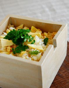 rice and young bamboo shoots with sansho herb