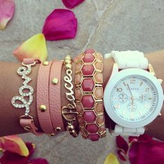 Gold Maddie Watch Set