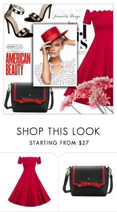 """Red set"" by mujkic-merima ❤ liked on Polyvore featuring vintage and rosegal"