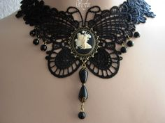 Victorian Necklace Gothic Jewelry Costume by stylbruchdesign, €27.80