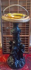 Antique parlor cigar ashtray on tall stand - amazing detail ornate victorian
