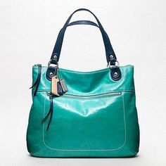 """Coach Poppy Spectator Glam Tote in color """"Cerulean""""....must have this for Spring! :)"""