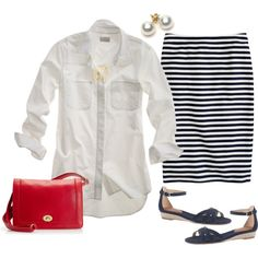 """Red, navy & whites ideas"" by maomi on Polyvore"