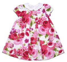 Luli & Me Toddler Girls' Fuchsia Floral Dress