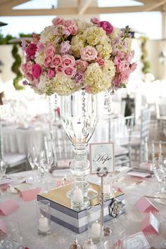 50 Fabulous and Breathtaking Wedding Centerpieces Pouted Online Magazine Latest Design Trends Creative Decorating Ideas Stylish Interior Designs Gift Ideas Candle Wedding Centerpieces, Wedding Arrangements, Floral Centerpieces, Reception Decorations, Floral Arrangements, Centerpiece Ideas, Tall Centerpiece, Centrepieces, Wedding Vases