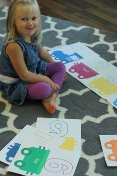 free preschool printable - number train