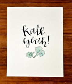 Kale Yeah Kitchen Collection Digital Print 8 x10 by OakAndEvelyn