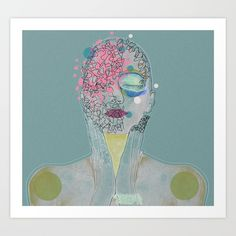 """Girl with mixed feelings"" - fine art prints custom trimmed by hand in a variety of sizes with a white border for framing."