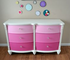 Picked  Painted: Abbys Dresser Makeover  Faux Embroidery Art