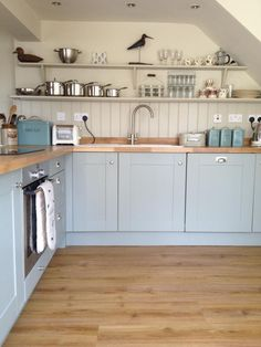 Kitchen A room with a view diss, Hollyhock Cottage, Norfolk