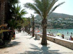 beach promenade El Portet Moraira