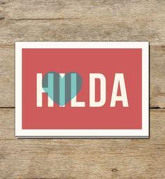 Geburtskarte   Hilda