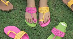 Quirky and stylish designer kolhapuri chappals and customized juttis for you at www.theshoetales.com