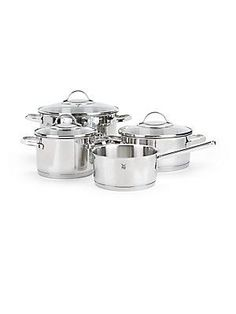 WMF Provence Plus Stainless Steel Cookware- Set of 4 - Stainless Steel