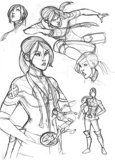 Rogue sketches from X-Men Legacy