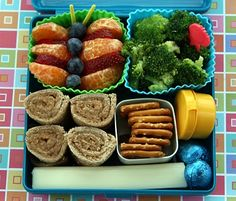 Colorful butterfly bento