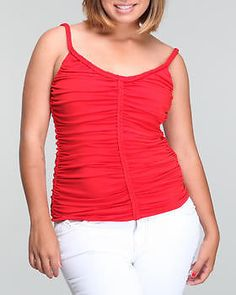 NWT BABY PHAT SZ  3X BRAIDED STRAPS RED SLEEVELESS PLUS SIZE TOP BLOUSE