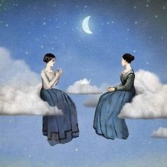 "Christian Schloe - ""Clouds, Wind and Tea"" (detail)"