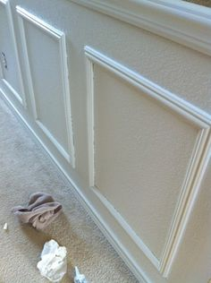 DIY: How to fake wainscoting. May use in my dining room, old home needs love!
