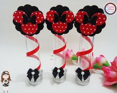 Tubete 3D Tema Minnie                                                                                                                                                                                 Mais