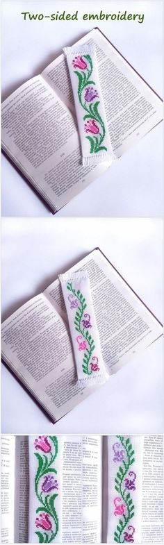 Handmade bookmark with embroidered colorful flowers. A great gift for reader. flower bookmark, gift for reader, book-mark, bookworm gift, page marker, book mark, book lover gift idea, cute bookmark, for bibliophiles, book nerd, gift for bookworm, book lover gift, bookmark bookworm