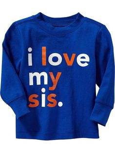 """""""I Love My Sis"""" Tees for Baby Product Image"""