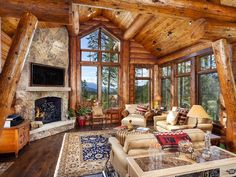 Exquisite Log Cabin Mountain Home, Sleeps... - VRBO