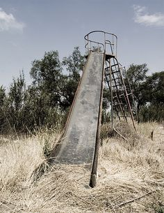 Abandoned School & Slide ~j
