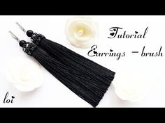 (121) #МК - Серьги - кисти | Оформление кисточек | #Tutorial - Earrings - brush - YouTube
