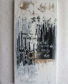 abstract painting. black and white acrylic on canvas. spring & the cherry trees.. $135.00, via Etsy.