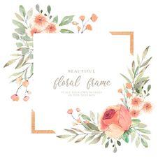 Watercolor Leaves, Watercolor Texture, Floral Watercolor, Frame Floral, Rose Frame, Vintage Grunge, Wedding Invitation Card Design, Wedding Invitations, Invite
