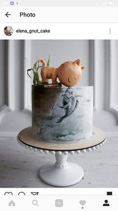 Elena, a pastry chef from Kaliningrad, Russia, has attracted more than fans by presenting her original complex cake design Elena, a Gorgeous Cakes, Pretty Cakes, Cute Cakes, Amazing Cakes, Crazy Cakes, Fancy Cakes, Animal Cakes, Painted Cakes, Love Cake
