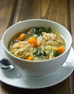 Italian Wedding Soup Italian Wedding Soup made with quinoa and packed with kale. Perfect for a weeknight or quick lunch.