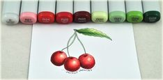 copic markers color chart | ... Stamp Company image; these Perfect Cherries were fun to color