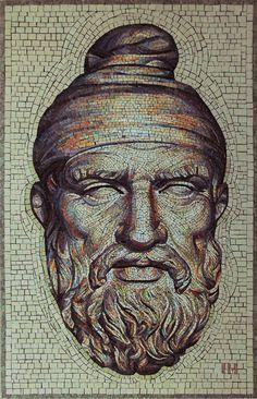 Decebal - the king of Dacia - mosaic on Behance Caucasian Race, Gaudi, Face Art, King, Statue, History, Artist, Painting, Behance