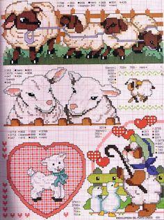 Cross stitch pattern, sheep.